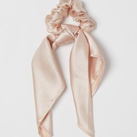 Scrunchie with Scarf Detail - Powder beige - Ladies | H&M US
