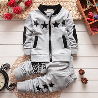 2015 new Summer wear baby Boy clothing set boy sports suit set clothing children outerwear coat tracksuit clothes T shirt+pant