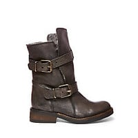 Leather Combat Ankle Booties | Steve Madden CAVEAT-F