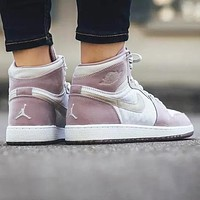 Air Jordan 1 AJ1 Popular Women Retro Sport Running Shoes Sneakers