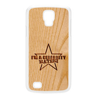 Carved on Wood Effect_Celebrity Hater White Hard Plastic Case for Galaxy S4 Active by Chargrilled