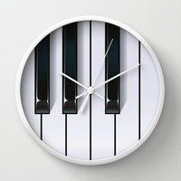Piano Wall Clock by Rob Snow