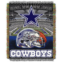 Dallas Cowboys NFL Woven Tapestry Throw (Home Field Advantage) (48x60)