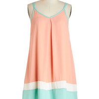 ModCloth Colorblocking Mid-length Sleeveless Tent Trapeze Your Mind Dress