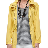 Weather-Resistant High-Collar Coat,