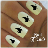 Halloween Nail Decal 20 Vinyl Stickers Witch Nail Art