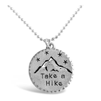 """Take A Hike"" for Outdoor Lovers Mountain Necklace"
