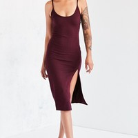 Silence   Noise Thigh-Slit Midi Slip Dress