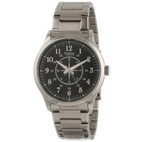 Caravelle 43A108 Men's Black Dial Stainless Steel Bracelet Compass Watch
