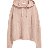 Knit Hooded Sweater - from H&M