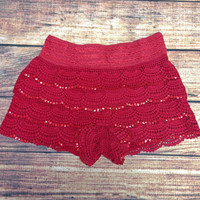 RED HOT FIRE CRACKER LACE SHORTS