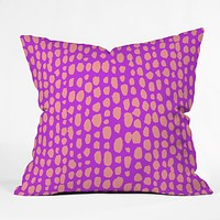 Rebecca Allen Pebble Beach Wild Throw Pillow