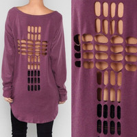 Cross Back Sweat Shirt from Milly Kate