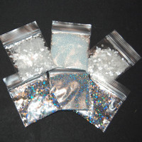 Winter Wonderland Solvent Resistant Glitter Sampler Set for Glitter Nail Art and Glitter Crafts