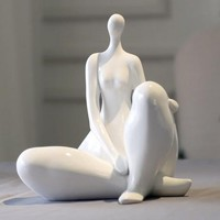 creative white figurines ornaments abstract sculpture home decors
