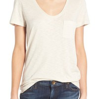 Caslon® Relaxed Slub Knit U-Neck Tee (Regular & Petite) | Nordstrom