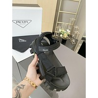 Prada Fashion Trending Leather Women High Heels Shoes Women Sandals Heel