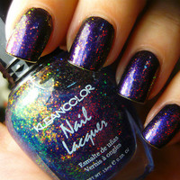 Kleancolor Chunky Holo Bluebell Nail Polish FREE SHIP from MyStuff