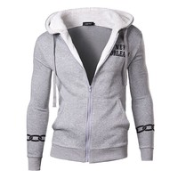 Autumn Men Hoodies Alphabet Print Men's Fashion Hats Casual Tops Jacket [6528753027]