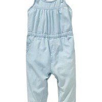 Chambray Rompers for Baby