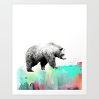 Wild No. 1 // Bear Art Print by Amy Hamilton