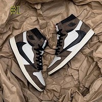 NIKE Air Jordan 1 new barb high top sneakers basketball shoes couple casual shoes-1