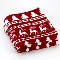 Ashley Cooper Fleece Reindeer Throw