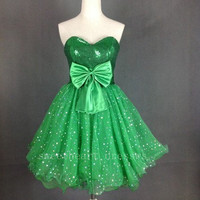 Charming Sweetheart A-line green mini the prom dress /homecoming dress from Cute Dress