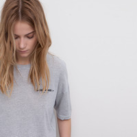 STRIPED T-SHIRT - T-SHIRTS AND TOPS - WOMAN - PULL&BEAR United Kingdom