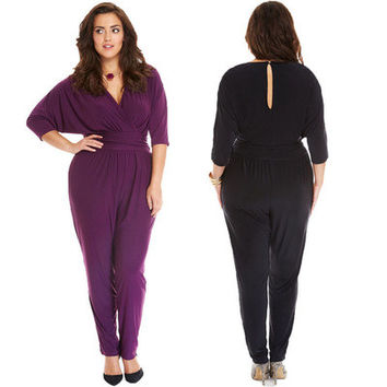 Casual Solid Romper Trousers Pants _ 11982