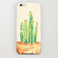 Succulent iPhone 6 Case Potted Cacti and Cactus Smartphone Cover Cell Phone Protective Plastic Hard Case Matte Rubberized iPhone 6 Cute