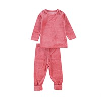 Bee & Dee Girls' Rose Velour Two Piece Set