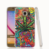Weed Cell Phone Protective Case cover For Samsung Galaxy A3 A5 A7 A8 A9 2016