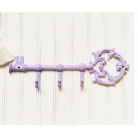 Cast Iron Large Key Wall Hook - Choose Your Color - Colorful Cast and Crew