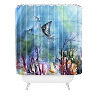 Ginette Fine Art Birds of the Ocean Shower Curtain