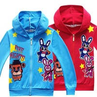Spring Five Night At Tshirt Hooded Hoody Boys Clothes Long Sleeve Hooded Sweatshirt Middle Child Shirt Christmas Costume