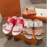 LV New women's slippers printed slippers