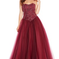 Alyce 60203 Beaded Ball Gown with Corset Back