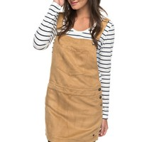 Chase The Sun Faux Suede Dungaree Dress ERJWD03159 | Roxy