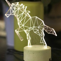 Unicorn Concrete Night Light