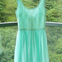 Mint Green Lace Dress from Bblythe