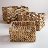 Seagrass V-Weave Baskets - World Market
