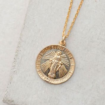 Virgin Mary Coin Necklace