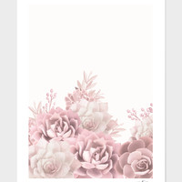 «Blush succulents» Art Print by Jace Anderson - Numbered Edition from $24.9 | Curioos