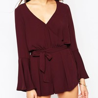 River Island Wrap Front Playsuit