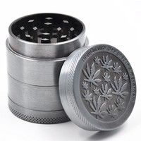 1 X New Zinc Dia. 40MM 4 Parts Tobacco Crusher Herb Spice Grinder Limited Stock