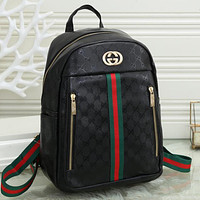 GG Large Capacity Canvas Double G Backpack Bag