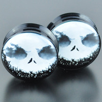 Creepy Face Acrylic Plugs