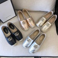 Gucci Leather Espadrille With Double G #1489