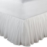 Greenland Home Fashions Cotton Voile 18-Inch White Bed Skirt, Full